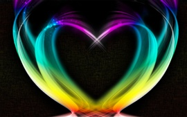 Preview wallpaper Abstract love heart, colorful smoke, creative
