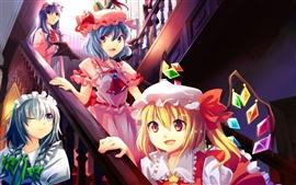 Anime niñas, escalera