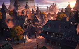Preview wallpaper Art painting, Middle Ages, ancient city