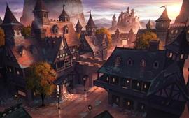 Pintura artística, Idade Média, cidade antiga