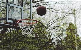 Baloncesto, lanzar pelota, bokeh