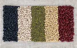 Beans, colors, grain
