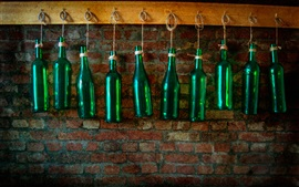 Preview wallpaper Bottles, wall