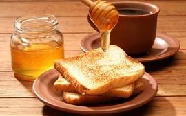 미리보기 배경 화면 빵, 꿀, 음식