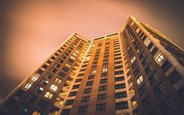 預覽桌布 建築物,房屋,底視圖,夜晚