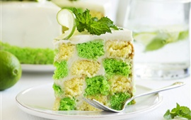 Preview wallpaper Cake, mint, lime, dessert