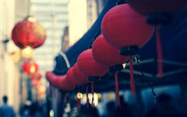 Preview wallpaper Chinese style, red lanterns