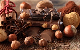Chocolate candy and nuts