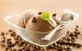 Preview wallpaper Chocolate ice cream ball, summer dessert