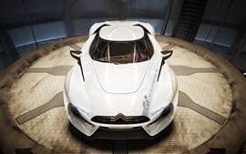 Preview wallpaper Citroen GT concept white supercar front view