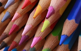 Preview wallpaper Colored pencils macro photography, pointed