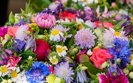 Colorful flowers, bouquet