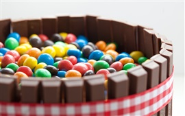 Preview wallpaper Colorful pill candy, chocolate