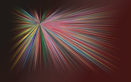 Preview wallpaper Colorful rays, abstract picture