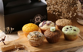 Preview wallpaper Cupcakes, muffins, food