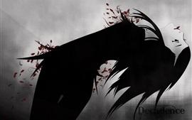 Aperçu fond d'écran Décadence, fille, style noir, dessin artistique