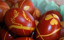 Easter eggs, painted eggs