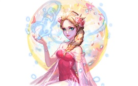 Preview wallpaper Elsa, Disney cartoon stars, Frozen