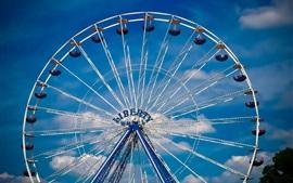 Preview wallpaper Ferris wheel, entertainment, sky