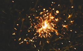 Preview wallpaper Fireworks, sparks, night