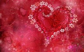 Vorschau des Hintergrundbilder Blumen lieben Herz, roter Stil
