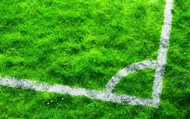 Aperçu fond d'écran Terrain de football, pelouse