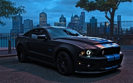Ford Mustang Shelby GT500 supercar frente vista