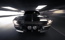 Preview wallpaper Ford Mustang front view, speed, tunnel