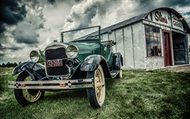 Preview wallpaper Ford classic car, vintage, grass