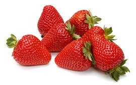 Preview wallpaper Fresh strawberries, white background