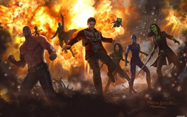 Preview wallpaper Guardians of the Galaxy Vol. 2, Marvel art picture