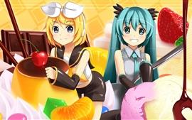 Hatsune Miku, dos encantadoras chicas de anime