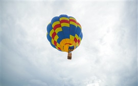 Hot air balloon flying, sky