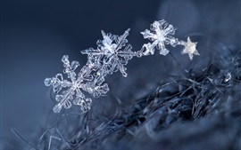 Preview wallpaper Ice crystal, snowflakes, winter