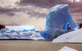 Aperçu fond d'écran Iceberg, mer, crépuscule