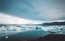 Preview wallpaper Icebergs, ice, lake, snow, winter