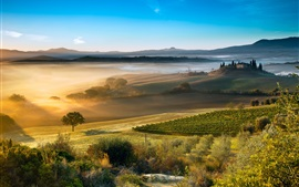 Preview wallpaper Italy, Tuscany, beautiful countryside