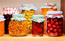 Preview wallpaper Jars, jam, food