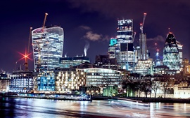 Preview wallpaper London, United Kingdom, beautiful night, city, skyscrapers, lights