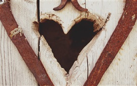 Preview wallpaper Love heart, wood board