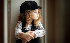 Lovely curly hair little girl