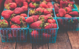 Preview wallpaper Many fresh strawberries, basket