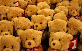 Preview wallpaper Many teddy toys