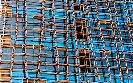 Preview wallpaper Mesh structure, buildings, glass