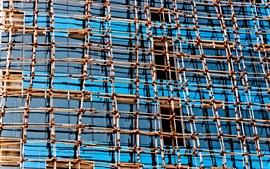 Estrutura de malha, edifícios, vidro