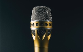 Preview wallpaper Microphone, music theme, black background