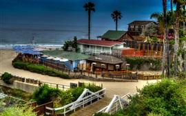 Newport Beach, mer, maisons, États-Unis
