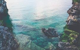 Preview wallpaper Ontario, Canada, sea, rocks