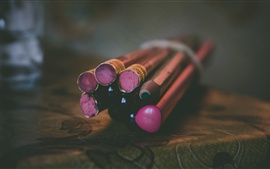 Preview wallpaper Pencils close-up, bokeh