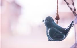 Pingente, pássaro, decoração
